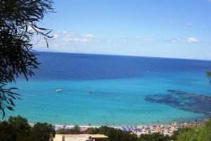 Vista sulla spiaggia di Grotticelle